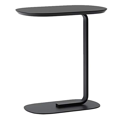 Sofa Side Table Snack End Table,Coffee Tray Side Desk, Laptop Holder Table, Metal Frame Nightstand Table, Sofa Portable Workstation, Easy Assembly