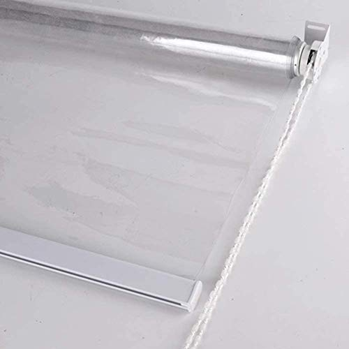 LLFF Kitchen Balcony Clear Roller Blinds, Waterproof PVC Outdoor Shades, 70/90/110/130 cm Width (Size : 110x160cm)