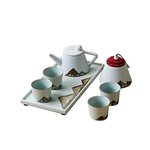Juego de Tetera para Mesa de té, Juego de té Chino Hecho a Mano, Juego de té de Kung fu pequeño Juego para el hogar japonés Simple Tetera para Beber