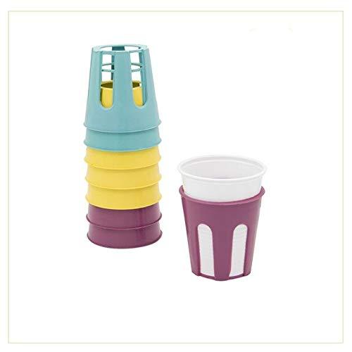 Palucart PortaBicchieri di plastica 8 Pezzi Multicolor sottobicchieri Antivento