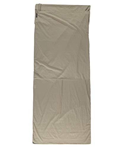 Cocoon Ägyptische Baumwolle Travel Sheet Baumwollschlafsack, Braun, 220 x 90 cm