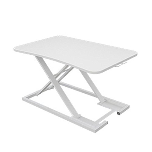 Tisch HUO, stojący stolik biurkowy, biurko, przenośny, przenośny, podstawka pod laptopa, stojak do pracy, 47 x 73 x 6-40 cm, wielofunkcyjny (kolor biały)