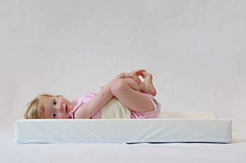 PooPoose Wiggle Free Diaper Changing Pad/ Changing Table Pad, White, 16