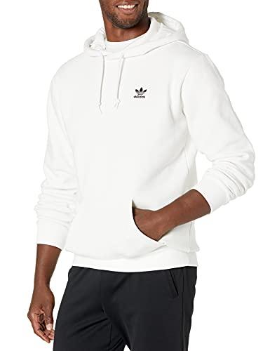 adidas Originals Trefoil Essentials Hoodie Sudadera con Capucha, Blanco, S para Hombre