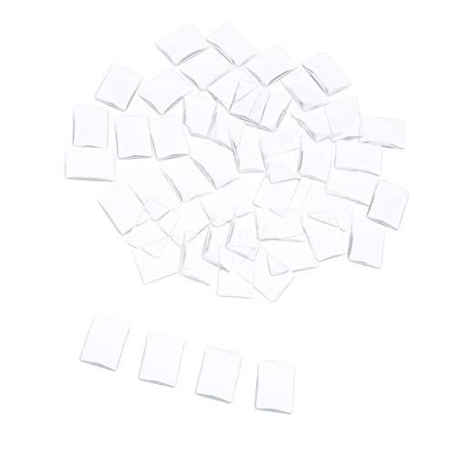 freneci Paquete de 50 Herramientas de Perlas de Esmalte de Uñas de Tablero de Color de Tabla de Exhibición de Arte de Uñas Transparente - Rectángulo