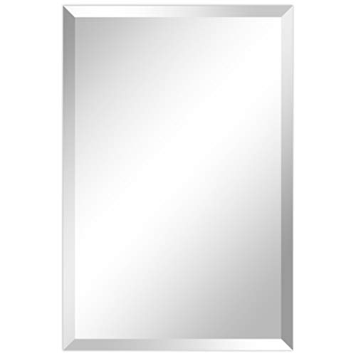 Empire Art Direct Wall, Frameless Prism Panel,1'-Beveled Edge Modern Mirror for Bathroom,Vanity,Bedroom,Ready to Hang, 20' x 30', Clear