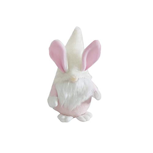 Zewuai 1Pcs Easter Bunny Gnomes Spring Gift Room Plush Faceless Doll Decorations Faceless Holding Egg Bunny Gnomes Ornaments