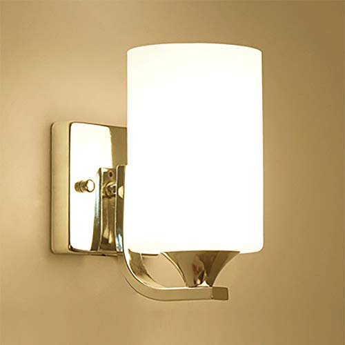 ASNX 1 x E27 Wandleuchte, poliertes Chrom-Finish, Wandhalterung mit flexiblem LED, weißer Lampenschirm, ovaler zylinderförmiger Glasschirm, ideal für Schlafzimmer, Wohnzimmer, Flur, Hotel, B&B