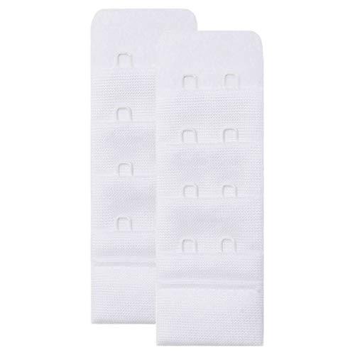 Skin Wrap Accessories BH Verlängerung Erweiterung Bra Extender BH Verschluss Verlängerung im 2er-Set 2 Haken (3.0 cm breit) Weiß (WH)