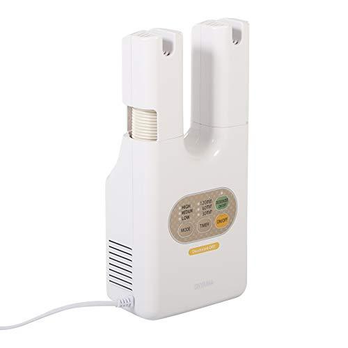 Iris Ohyama Asciuga Scarpe Elettrico, Sterilizzatore Ozono e Timer Deodorante, Calzature Dryer, KSD-C1, 215 W, Bianco