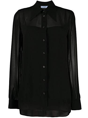 Prada Luxury Fashion Damen P431ES2011VV8F0002 Schwarz Viskose Hemd | Frühling Sommer 20