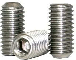 Hex Socket Drive Stainless Steel 18-8 5//16-18 x 1//2 5//16 inch Grub//Blind//Allen//Headless Screw Length: 1//2 inch Coarse Thread Quantity: 100 Cone Point Socket Set Screw