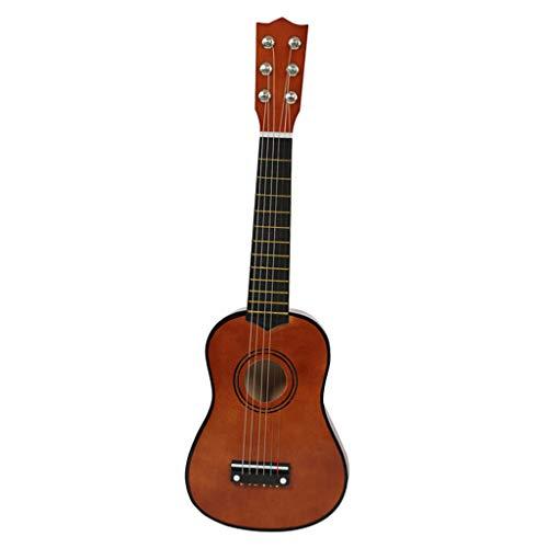 Almencla 21 Zoll Akustikgitarre, Mini 6 Saiten Akustische Gitarre, Perfektes Geschenk für Anfänger, Musikliebhaber und Kinder, Top Qualität - Kaffee