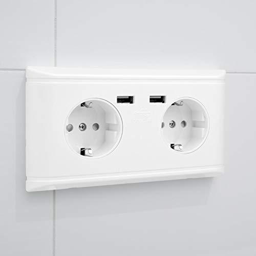 Toma de corriente eléctrica Caja de enchufe USB 220V Multifuncional, para el hogar, la oficina, el hotel