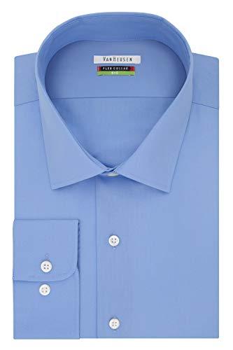 Van Heusen mens Big Fit Flex Collar Solid (Big and Tall) Dress Shirt, Periwinkle, 18.5 Neck 32 -33 Sleeve XX-Large US