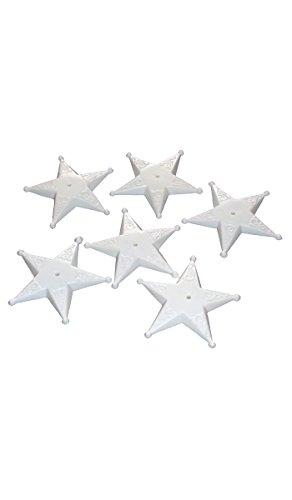 Sachet 100 socles forme étoile pour 1 drapeau (dimensions 9,5 x 16cm) - Taille Unique
