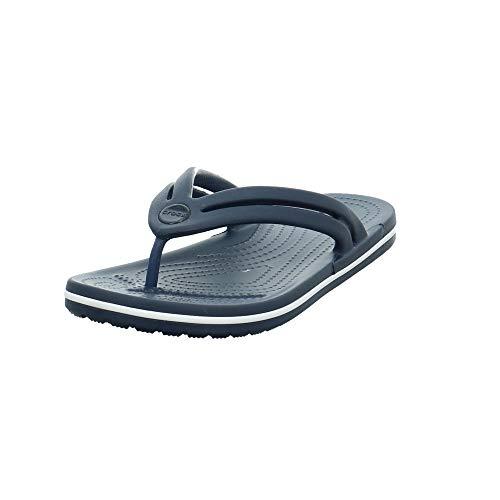 Crocs Women's Crocband Flip Flop | Slip On Water Shoes | Casual Summer Sandal, Navy, 8 M US