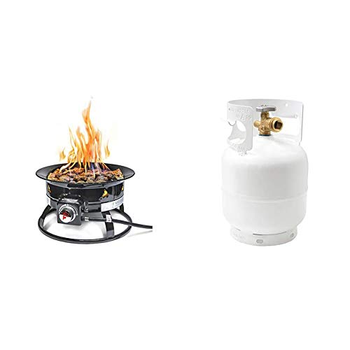 Outland Firebowl 893 Propane Gas Fire Pit with Cover & Carry Kit & Flame...