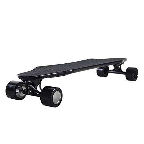 MJ-Brand Elektrisches Skateboard mit kabelloser Fernbedienung 300W * 2 Motor ultradünnes Skateboard mit Doppelantrieb für Erwachsene Profis schwarz