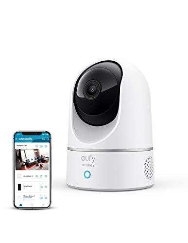 Anker Eufy Security 2k cámara Interior Domo 360º Seguridad con visión Panorámica, Wi-Fi, cámara IP, IA para Humanos y Mascotas, Funciona con asistentes de Voz (Alexa,Apple HomeKit,Assistant), visión Nocturna, Audio bidireccional
