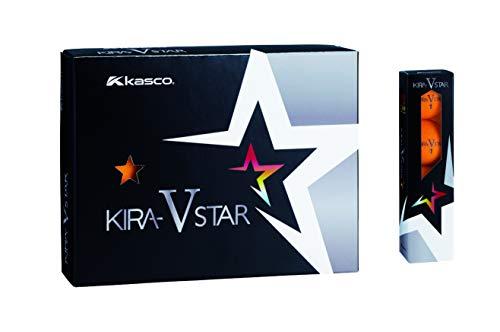 キャスコ(Kasco) ゴルフボール KIRA STAR V キラスターV ユニセックス キラスターVN オレンジ 最適ヘッドスピード: 25~45 2ピースボール: 1コア+1カバー
