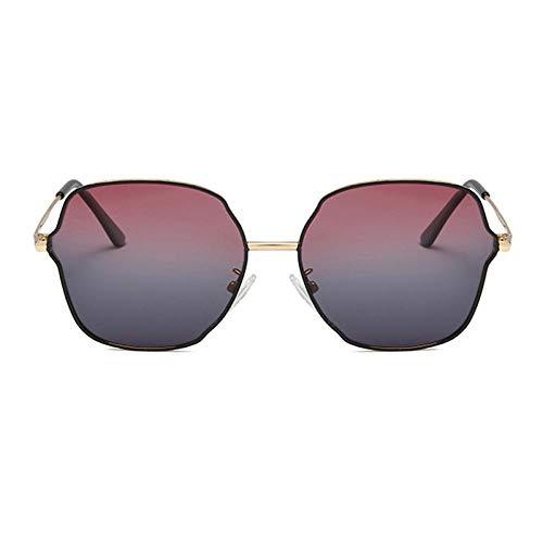 Gosunfly Gafas de sol polarizadas Niños Personalidad Gafas de metal Visera de sol-Pintura dorada negro púrpura gris progresivo