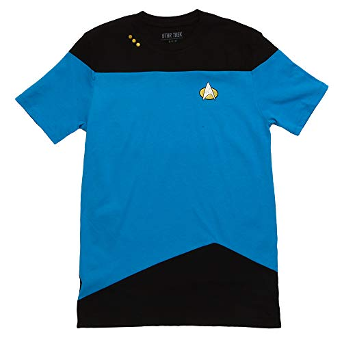 Star Trek: The Next Generation Uniform Adult T-Shirt - Science Blue (Large)