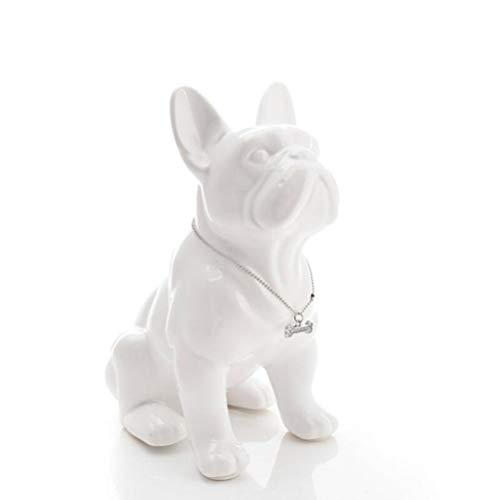 TYUJHG Sculpture Figurine Sculpture Statue Decor Sculptures & Statues Ceramic French Bulldog Dog Statue Home Decor Room Decoration Objects Ornament Animal Figurine Garden Decoration