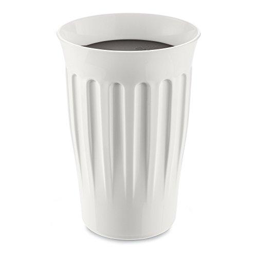 koziol Click Coffee To Go Becher 350 ml, Kunststoff, weiß mit schwarz, 9.3 x 9.3 x 13.6 cm