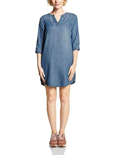 Cecil Damen 142403 Kleid, mid Blue Used wash, X-Large