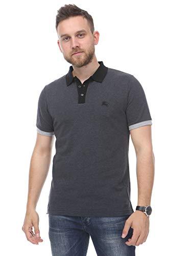BURBERRY Brit Poloshirt, Grau Gr. M, grau