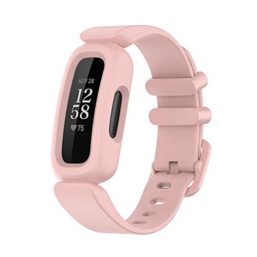 Armband Kompatibel mit Fitbit ACE 3/ Fitbit Inspire 2/HR - Smart Watch Silikon Uhrenarmbänder Armbanduhr Strap - Fitnessarmband Ersatzarmband Replacement Watch Wrist Strap (I)
