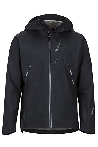 Marmot Knife Edge Jacket Giacca Antipioggia Rigida, Impermeabile, Antivento, Impermeabile, Traspirante, Uomo, Black, M