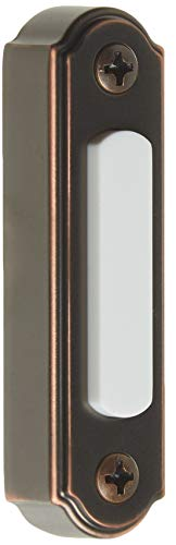 Heath Zenith SL-257-02 Wired Push Button, Oiled-Rubbed Bronze