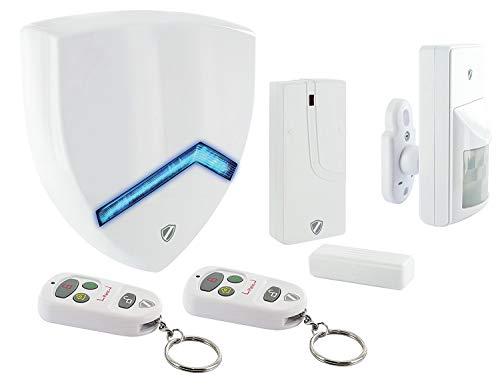 SCHWAIGER -5392- Funk-Alarm-System/Funk Alarmanlage Set/Alarm-Anlage Smart Home/mit Fernbedienung/Einbruchschutz/Fenster-Sicherung/Tür-Sicherung/Green Guard