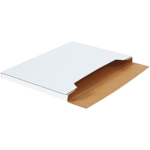 Boxes Fast BFM36241 Jumbo White Fold-Over Cardboard Mailers, 36 x 24 x 1 Inches, Easy Fold Mailers, Corrugated Die-Cut Shipping Boxes, Multi-Depth, Large White Mailing Boxes (Pack of 20)