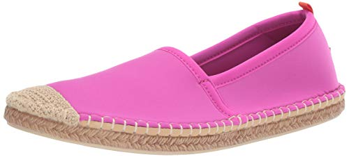 Sea Star Beachwear Women's Neoprene Beachcomber Espadrille Flat, Water-Friendly and Quick Drying Hot Pink 10