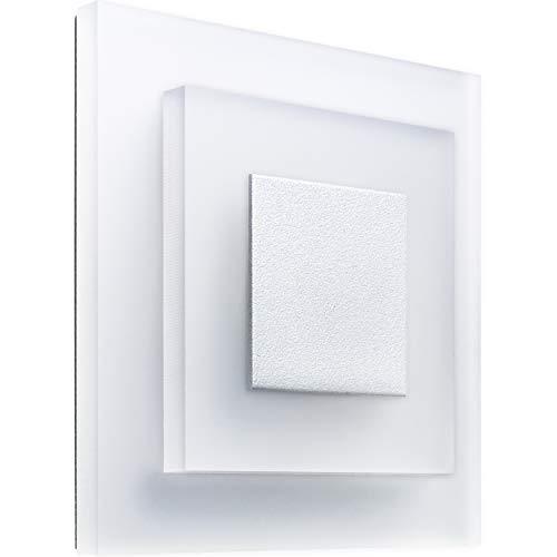 MeerkatSysteme SunLED PORCO - LED Treppenbeleuchtung 230V 1W Plexiglas Treppenlicht mit Unterputzdose Stuffenlicht Wandeinbauleuchte (ALU: Weiß; LICHT: Blau)