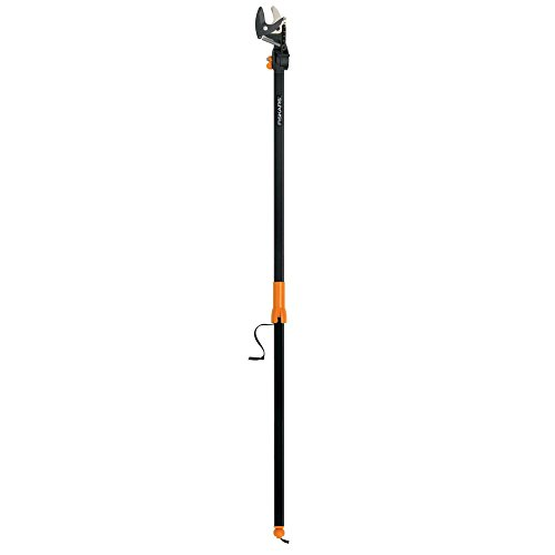 Fiskars EZ Reach Tree Pruning Stik with Rotating Head 5 Feet Long,Orange