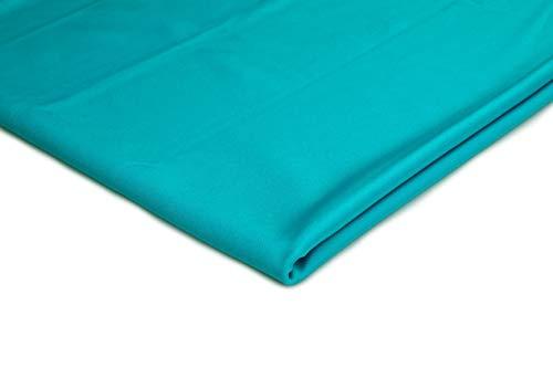 Prendas de punto deportivas lycra, Material muy flexible, 50 x 150 cm (Turquesa)