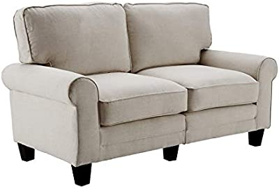 Amazon.com: Mid Century Modern Linen Fabric Living Room Sofa ...