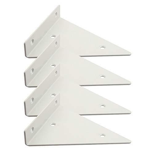 Soporte Triángulo Flotantes Montados En La Pared, Un Juego De 4, Escuadras para Estanterias Oculto, Capacidad Máxima De Carga 20kg, Soporte De Estantes Metal con Diseño De Decoración Creativa