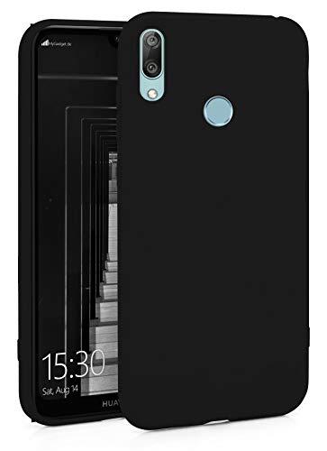 MyGadget Silikon Hülle für Huawei Y7 (2019) - robuste Schutzhülle TPU Hülle Slim Silikonhülle Back Cover Ultra Kratzfest Handyhülle in Schwarz