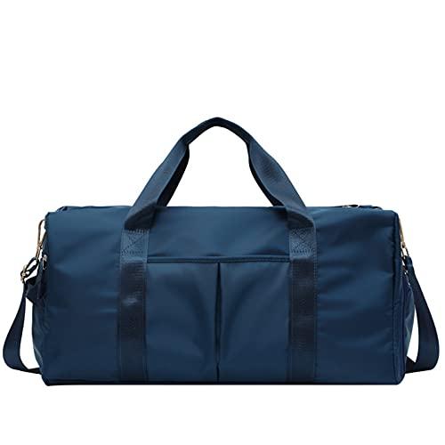 Bolsas deportivas para yoga, gimnasio, con zapatillas, bolsa impermeable para entrenamiento, zona seca y húmeda, para mujeres y hombres, nadador (azul oscuro)