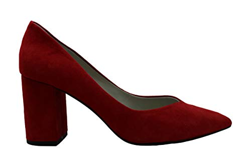 1.STATE Womens Saffy Leather Pointed Toe Classic Pumps, Fire, Size 7.5