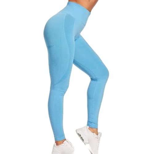 QTJY Moda melocotón Cadera Cintura Alta Pantalones de Yoga Deportivos Ajustados Que absorben el Sudor Medias de Grasa al Aire Libre Pantalones de Jogging AL
