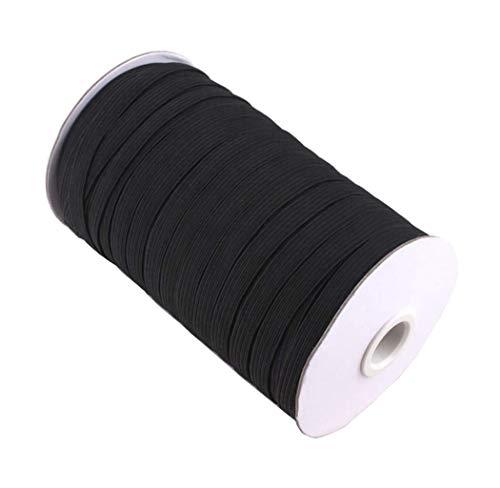 Abbaoww 3/8 Inch 144 Yard Braided Elastic, Springy Stretch Braided Elastic Cord Elastic Band, Black