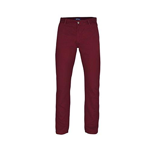 Asquith & Fox - Pantalones chinos casuales Modelo Classic para hombre caballero (Cintura 102cm x Long/Vino)