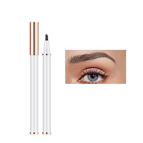 Stool Lasting Eyebrow Tattoo Pen Wasserdicht Professional Natural 3 Punkte Liquid Eye Brow Pencil 3D Microblading Augenbrauenstift Make-Up-Tool Zum Markieren Füllung Umriss,Dark Brown