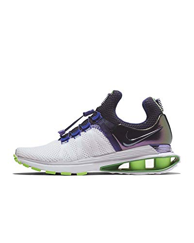 Image of the NIKE Women's Shox Gravity Running Shoes-White/Fusion Violet-9